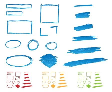 marcador: Subraya y marcos Handdrawn