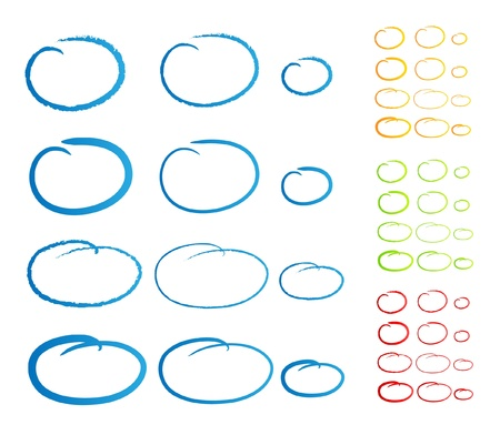 kreis: Oval Marker handschriftliche Illustration