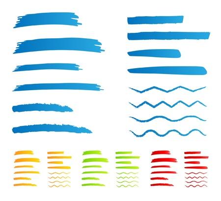 Underline markers handwritten Vector