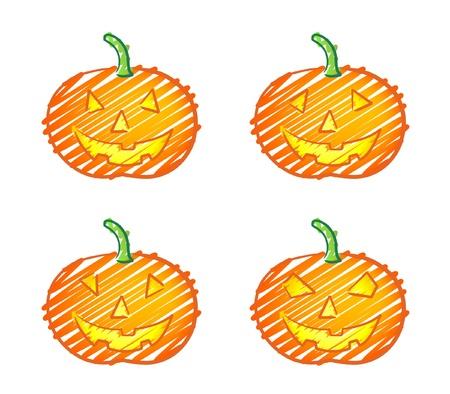 Halloween pumpkin scribble Stock Vector - 10520182