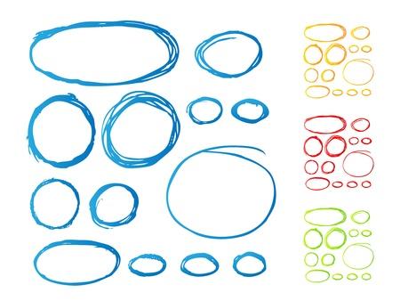 ovalo: Dibujado a mano destaca ovales