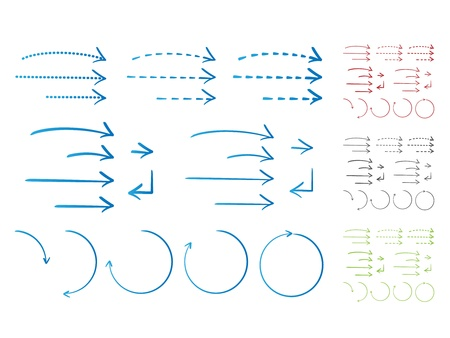 Hand-drawn Arrows in ink style  Vector