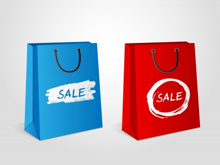 Shopping bags Sale Vector
