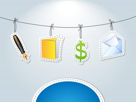 keeping: Accountancy - finance card Illustration