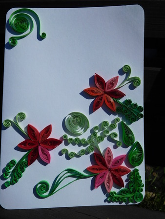 quilling: quilling flower postcard