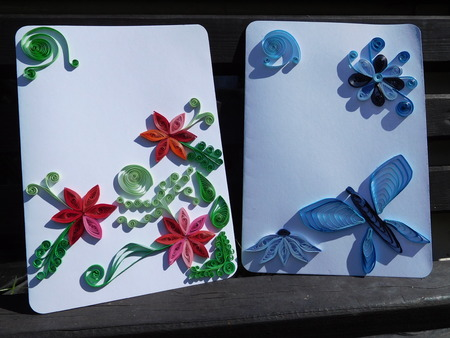 quilling: quilling postcards