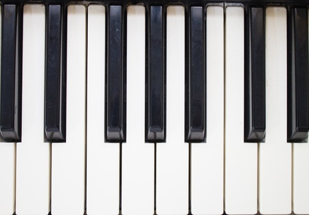 synthesiser: Close-up of Piano Keyboard Stock Photo
