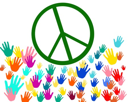 hard love: Peace signs and colorful