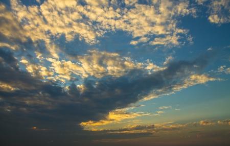 incarnadine: Beautiful sunset after raining  Stock Photo