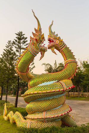 exquisite fairy: nagas statue Stock Photo
