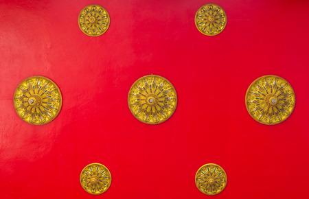 Thai Temple Wall Thai photo