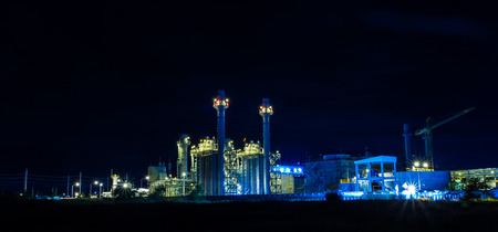 Twilight photo of power plant Stock Photo