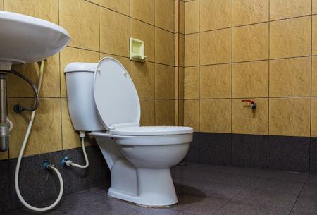 bathroom interior: luxury modern style interior bathroom. Stock Photo