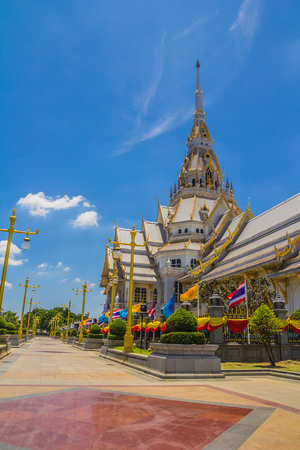 southeastern: Pattern the Church in Thailand temple in Thailand. Stock Photo