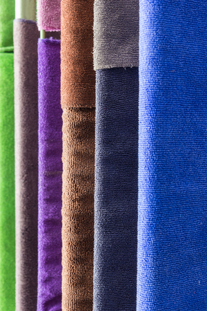 artisanry: Colorful fabric at a local market