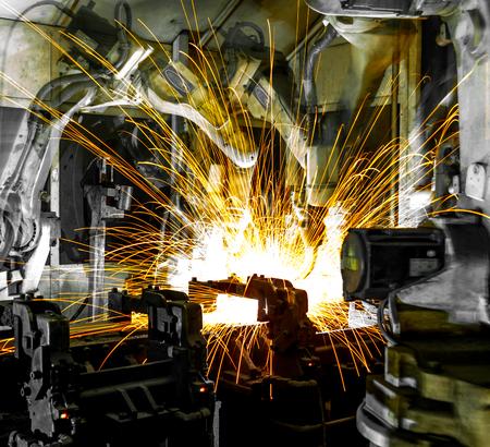 Welding Robot Machine Automotive Industry