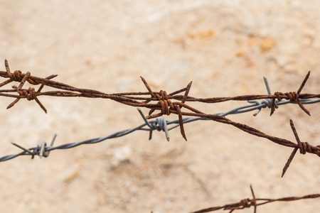 barbed: Rusty barbed Stock Photo