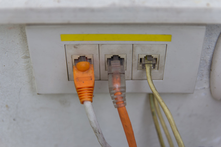 connector: Close-up Ethernet connector