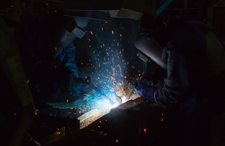 fabricator: The working in Welding skill up. Manufacturing of car