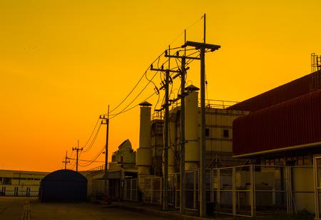orange sunset: Red sky orange sunset sundown. Amazing amazing Stock Photo