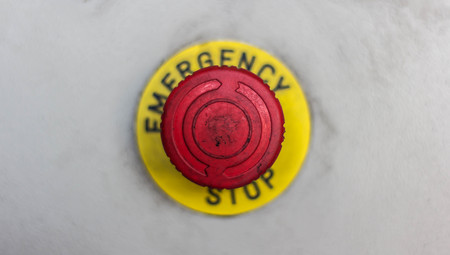 emergency button: Emergency button Stock Photo