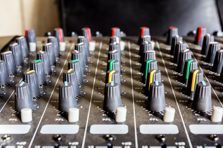 console: sound mixer console