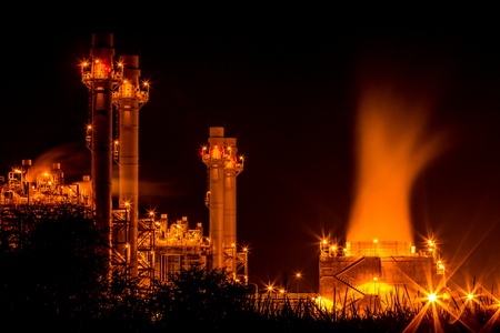 globalwarming: A photo of power plant industrial