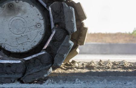 maquina de vapor: Construcción de carreteras