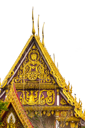 Outdoor temple roof Stock Photo