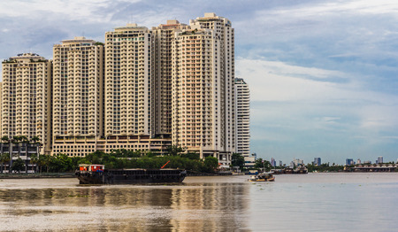 High rise building on the Chao Phraya River.