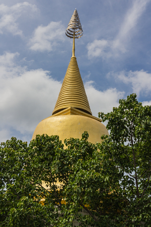 Wat Hong Thong, a temple built on a concrete platform in Samut Prakan, Thailand