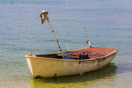 Little boat floating