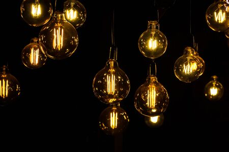 Incandescent light bulb Interior light Stock Photo