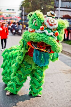 The chinese new year at Ayutthaya,Thailand photo