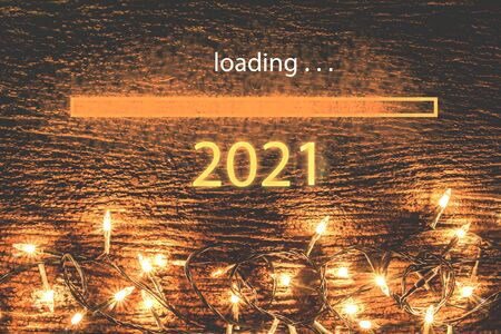 2021,Computer screen with a 2021 with glittering glitter and copy space on the floor, light, water-droplets