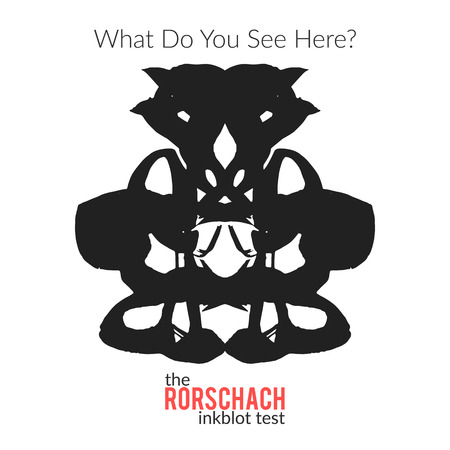 The rorschach inkblot test vector isolated variation for psychological test for psychologists and their patients. The Rorschach technique with hand drawn ink blot used in psychology.