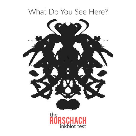 metodo cientifico: La variación vector aislado test de Rorschach para el examen psicológico para los psicólogos y sus pacientes. La técnica de Rorschach con mancha de tinta dibujado a mano utilizado en la psicología. Vectores