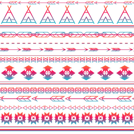 applied: Aztec tribal seamless multicolor pattern background. Tribal design can be applied for invitations, fashion fabrics, wallpapers, applications and Web sites background.