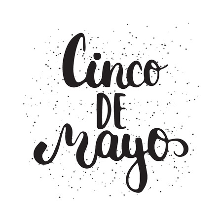 5th: Cinco de Mayo mexican greeting card. Vector illustration for 5th of May isolated on the white background. Illustration