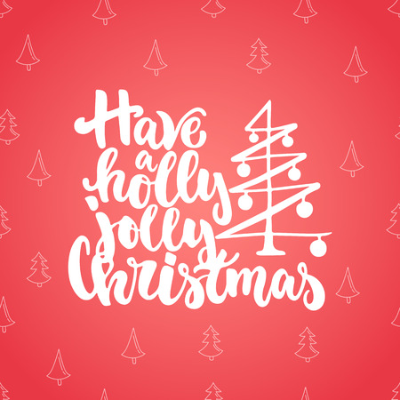 overlays: Merry Christmas and Happy new year - lettering holiday calligraphy phrase isolated on the blue doodle background. Fun brush ink typography for photo overlays, t-shirt print, flyer, poster design