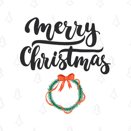 overlays: Merry Christmas - lettering Christmas and New Year holiday calligraphy phrase isolated on the background. Fun brush ink typography for photo overlays, t-shirt print, flyer, poster design.