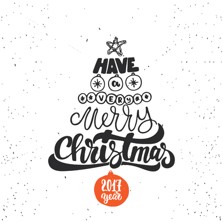 Merry Christmas And Happy New Year - Lettering Holiday Calligraphy ...