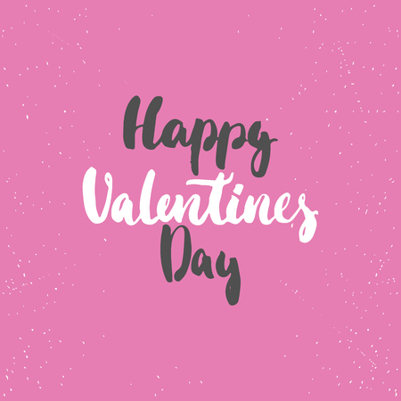 Happy Valentines Day - love lettering calligraphy phrase isolated on the background. Fun brush ink typography for photo overlays, t-shirt print, poster design. Illustration