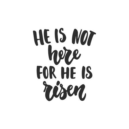 He is risen - Easter illustration