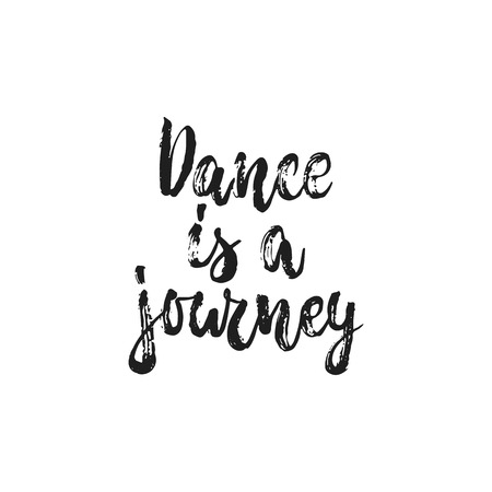 Dance is a journey poster design.