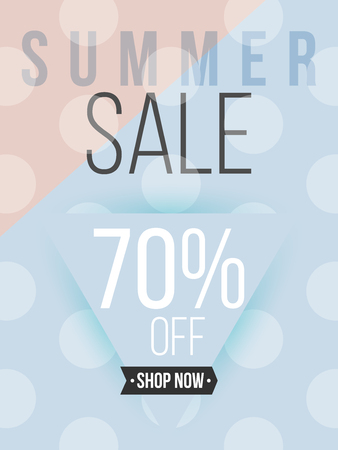Summer sale minimal poster and cover design in colorful modern style with abstract elements. Template layout vector for flyer, banner, placard, place your text. Reklamní fotografie - 81511817