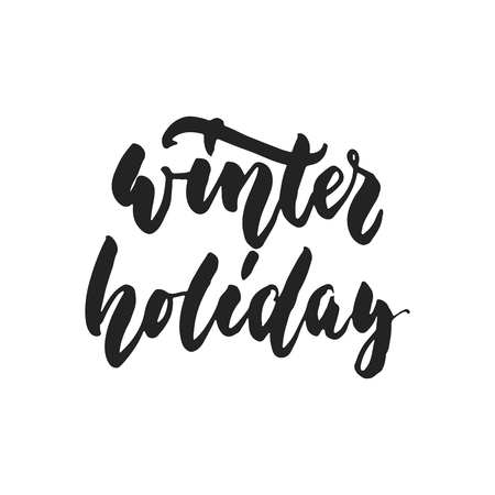 Winter holiday - hand drawn lettering inscription for New Year checklist isolated on the white background. Fun brush ink template for Christmas preparation.