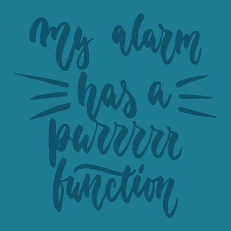 Hand drawn lettering phrase for animal lovers for poster design Ilustração
