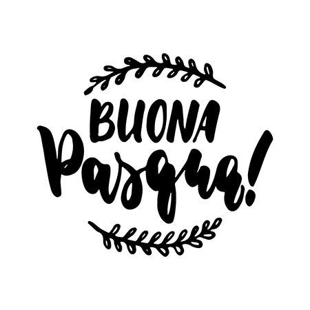 Buona pasqua stock photos royalty free buona pasqua images buona pasqua happy easter in italian hand drawn lettering calligraphy phrase isolated on the m4hsunfo