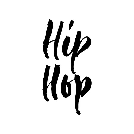 Hip Hop - Easter hand drawn lettering calligraphy phrase isolated on white Ilustrace